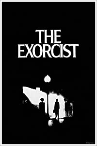 American Gift Services - Vintage Black and White Horror Movie Poster The Exorcist - 11x17