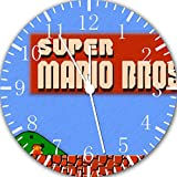 Old fashioned Super Mario Bros Frameless Borderless Wall Clock E117 Nice For Gift or Room Wall Decor