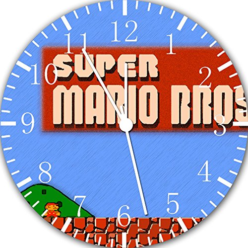 Old fashioned Super Mario Bros Frameless Borderless Wall Clock E117 Nice For Gift or Room Wall Decor by Frameless Clock