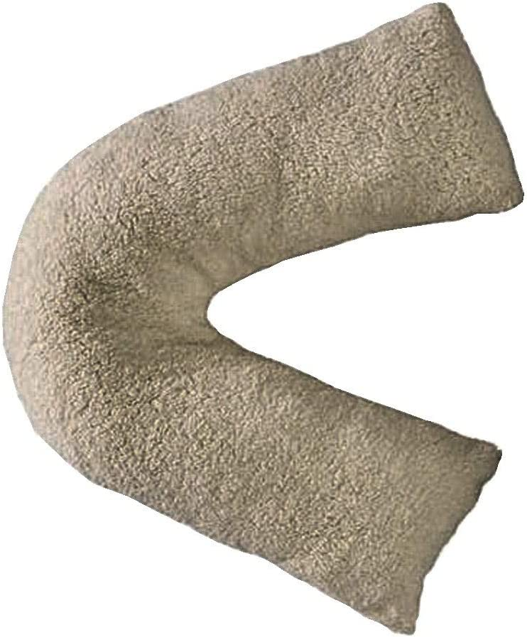 Teddy Bear Grey V Shaped Pillow | Dunelm