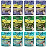 Cheap Earthborn Holistic Grain Free Wet Cat Food in Gravy Pouches – 3 Ounces Each – 3 Flavors – Fin & Fowl, Lowcountry Fare, and Keywest Zest (12 Pouches Total)