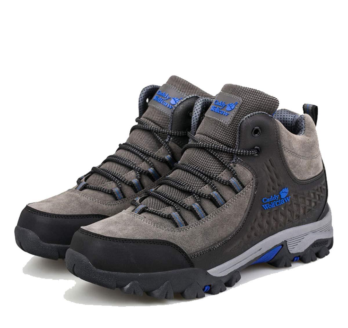 Adong  Herren Wanderschuhe Jungle Trekking Schuhe Bergsteigen Stiefel Wasserdichte Schuhe Non Slip Atemp-Outdoor-Schuhe,grau,42EU