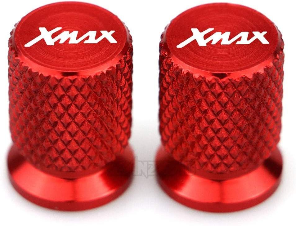 Tutto lanno Color : Black MUJUN Riserva XMAX Moto valvola della gomma di alluminio di CNC Tire Air Port staminali cappuccio del tappo Accessori for Yamaha XMAX 125 250 300 400