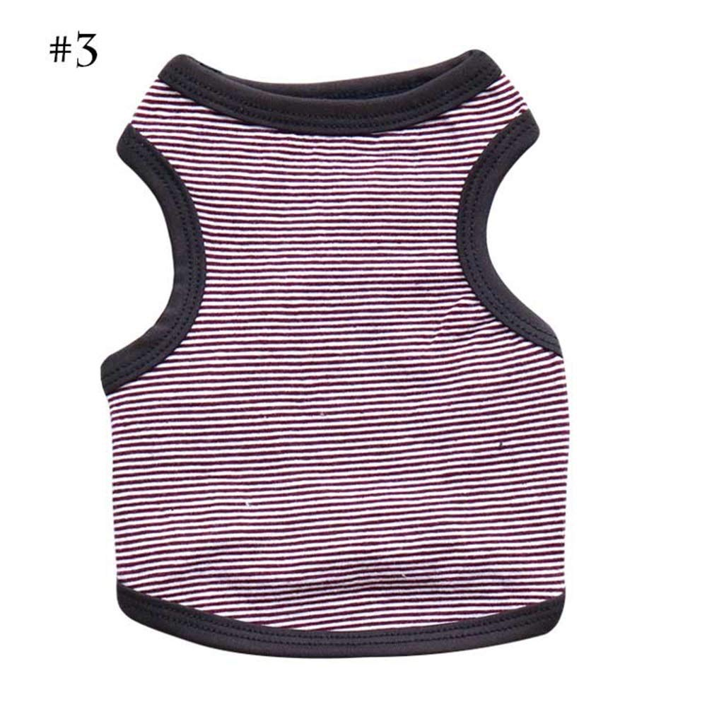 1 L 1 L AUSWIEI Dog Stripe T-Shirt Comfort Dog Vest Pet Clothing (color   1, Size   L)