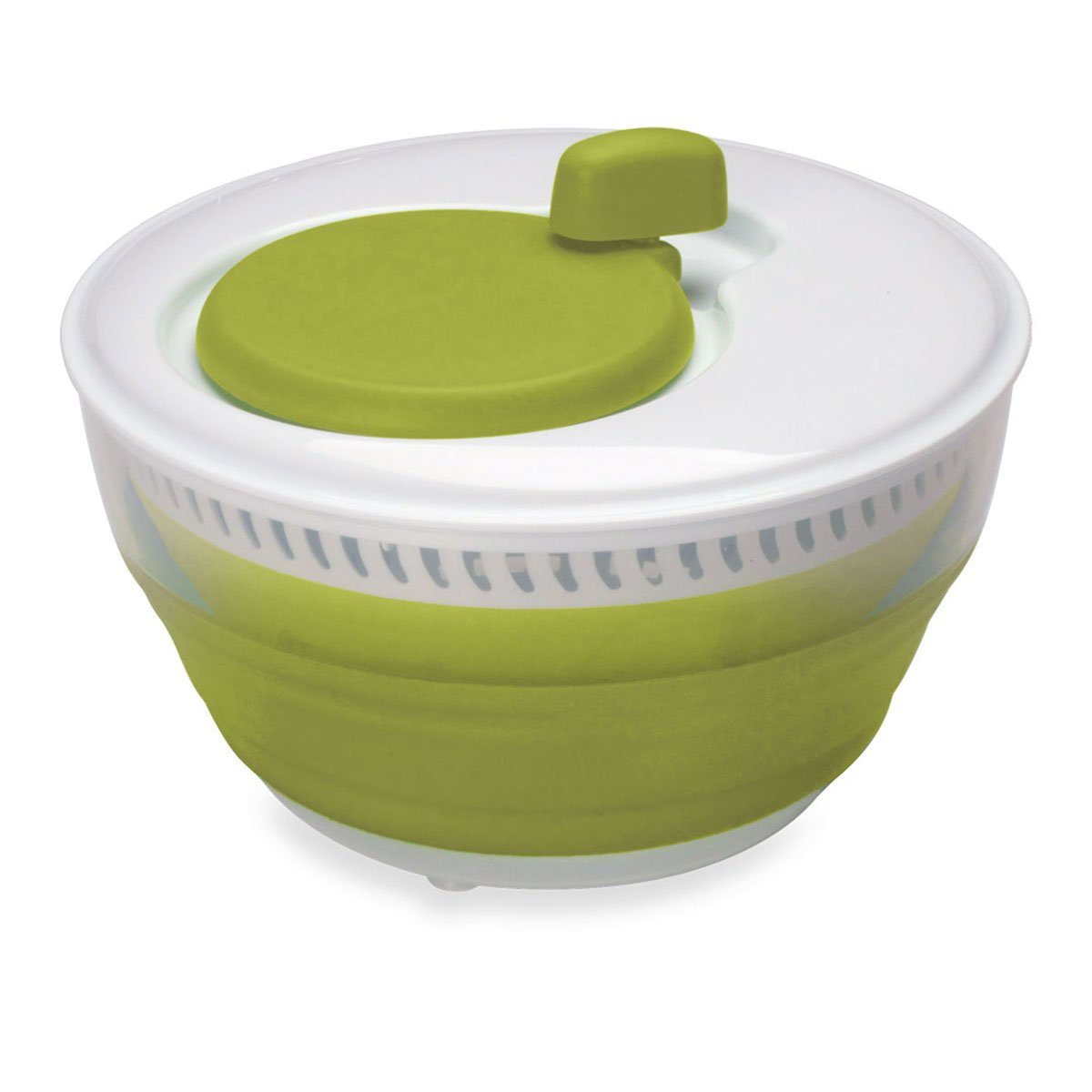 Starfrit 093147-003-0000 Starfrit 093147 Collapsible Salad Spinner, 3L Capacity, Green