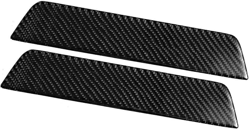 2pcs Couvercle de Protection en Fibre de Carbone de Plaque de Protection de seuil de Porte arri/ère de Voiture Ajustement pour 3 2017-2019 Yctze Couverture de seuil de Porte de Voiture