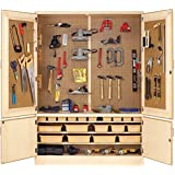 """Diversified Woodcrafts TC-14 Solid Maple Wood Automotive Tool Storage Cabinet, 60"""" Width x 84"""" Height x 22"""" Depth, 3 Shelves"""