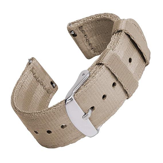 Archer Watch Straps | Cinturón de Seguridad Correa de Reloj de Nailon para Hombre y Mujer, Correa Fácil de Abrochar para Relojes y Smartwatch, 18mm, ...