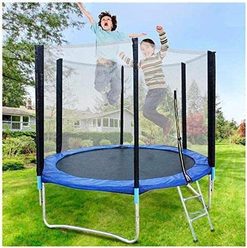 8 FT Kids TrampolineEnclosure Net Jumping Mat and Spring Cover Padding Toys Gift for Girls Boys Baby Kids Children`s Play Toy GiftOutdoor Children`s Adult Trampoline Outdoor Bungee Bed