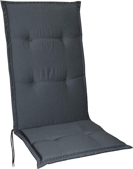 Schwar Textilien - Cojines para sillas de jardín con respaldo alto, 5 colores, gris: Amazon.es: Hogar