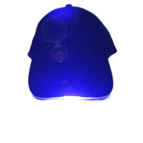be473a141 Amazon.com: Refaxi Blue 5 LED Baseball Cap Light Glow Bright Unisex ...