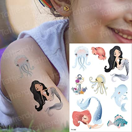 3ps-Niño tatuaje tatuaje niño pegatina cuerpo arte caballo ...