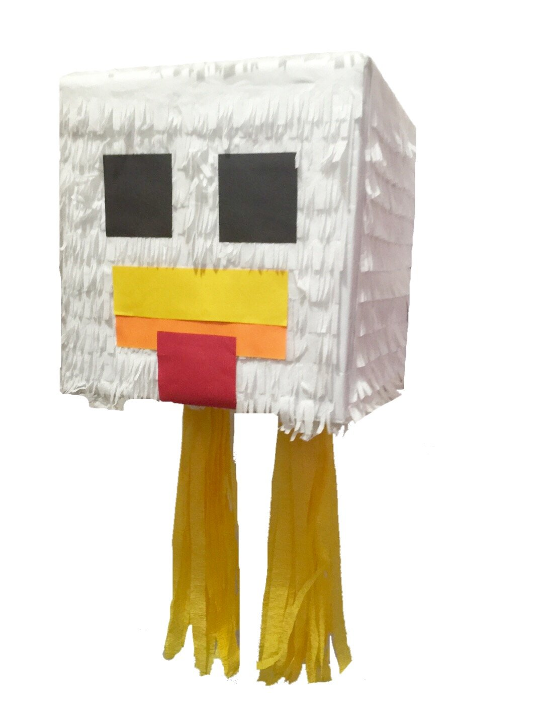 Chicken Inspired Pixelated Theme Pinata Fully Assembled Ready to Use