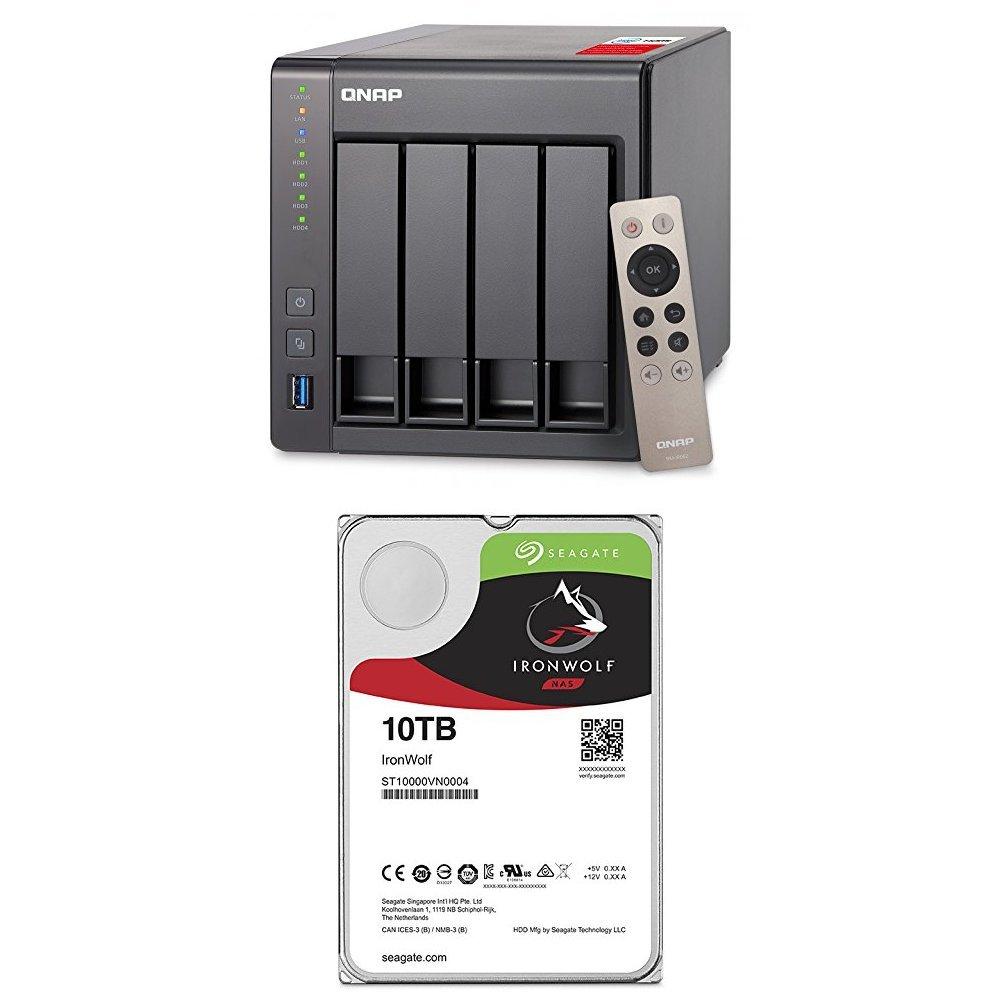 QNAP TS-251+ 2-Bay Next Gen Personal Cloud NAS Bundle ST4000VN008 2 Seagate 4TB IronWolf NAS Internal Drives