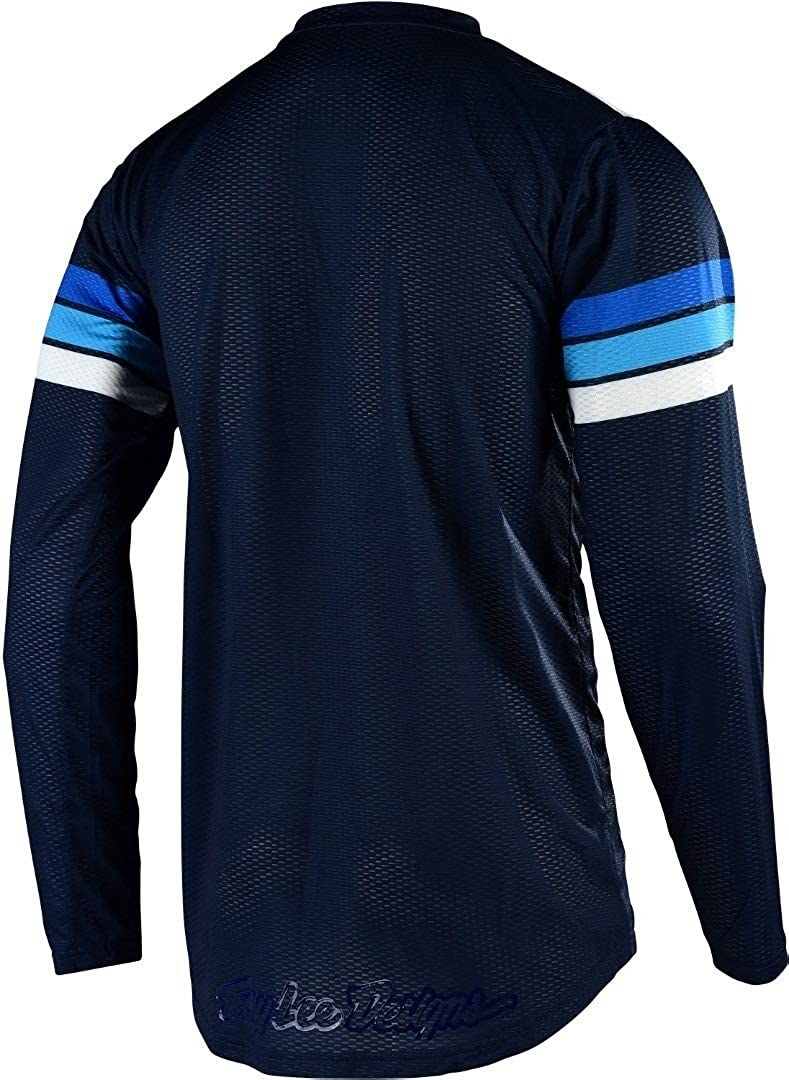 Troy Lee Designs Mens Offroad Motocross GP AIR Carlsbad Jersey Small, White//Navy