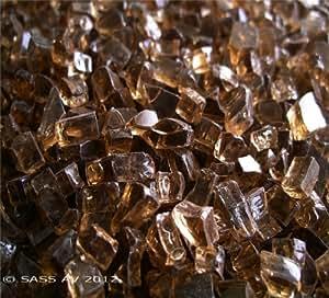"Fireglass chimenea Fire Pit cristal, ~ 1/4""cobre, 30libras"