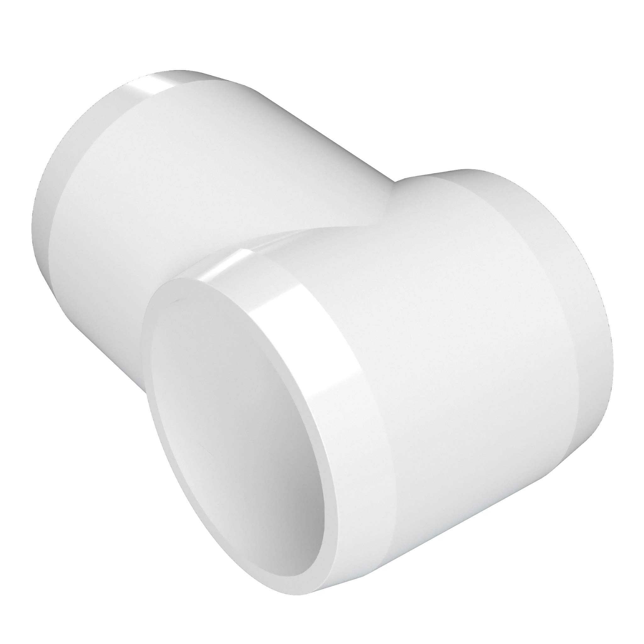 FORMUFIT F114STE-WH-4 Slip Tee PVC Fitting, Furniture Grade, 1-1/4'' Size, White (Pack of 4)