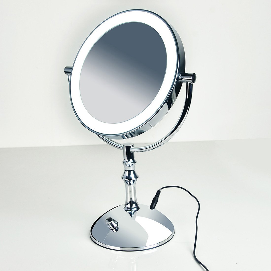 MR16008 Ltd Moiom 8 Inch Double Sided 1X//10X Magnification LED Lighted Makeup Mirror,Brightness Adjustable,Polished Chrome Finish,With USB line Yiwu ZongRui Ecommerce Co