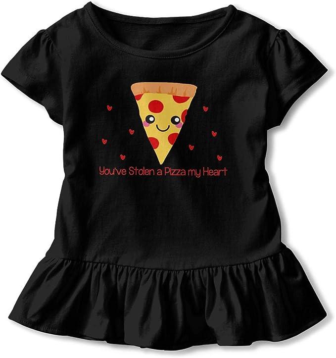 NMDJC CCQ Youve Stolen A Pizza My Heart Baby Skirts Cute Kids T Shirt Dress Cotton Flounces Skort