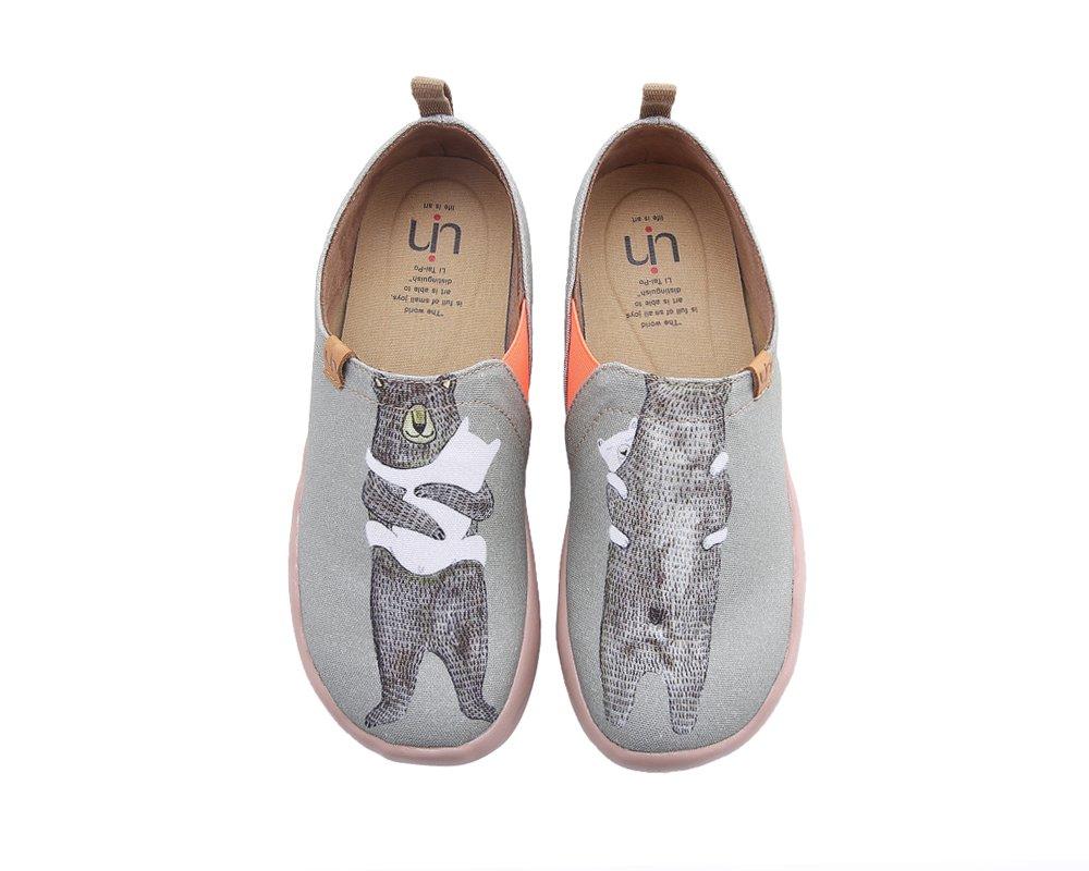 UIN Men's Bear's Hug Travel Canvas Slip-on Shoe Grayish-Green (9.5)