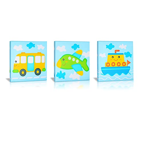 Green Frog Canvas Gallery Wrapped Art Decor, All Aboard