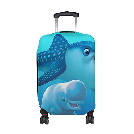 COOSUN Delfines Imprimir equipaje de viaje cubiertas protectoras lavable Spandex equipaje Maleta Cubierta - Se adapta