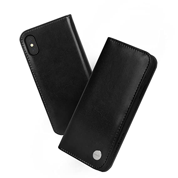 buy popular 97bce 63b7e Moshi Overture Wallet Case for iPhone Xs/iPhone X (Charcoal Black)
