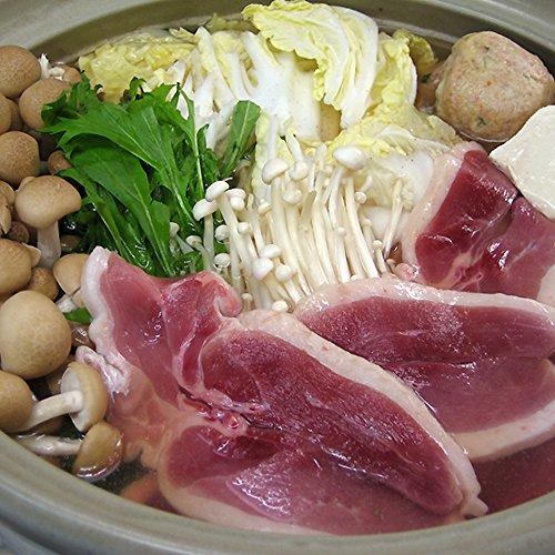 美味しくてヘルシーな鴨鍋セット鴨ロース肉500g肉団子5個特製スープ付!