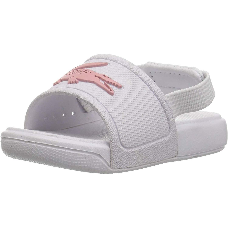 1cb5625689 Lacoste L.30 Slide 119 2 White/Light Pink Rubber Baby Slides Sandals ...