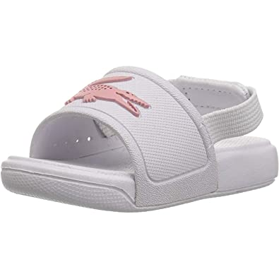 0b10d3c41 Lacoste L.30 Slide 119 2 White Light Pink Rubber Baby Slides Sandals ...