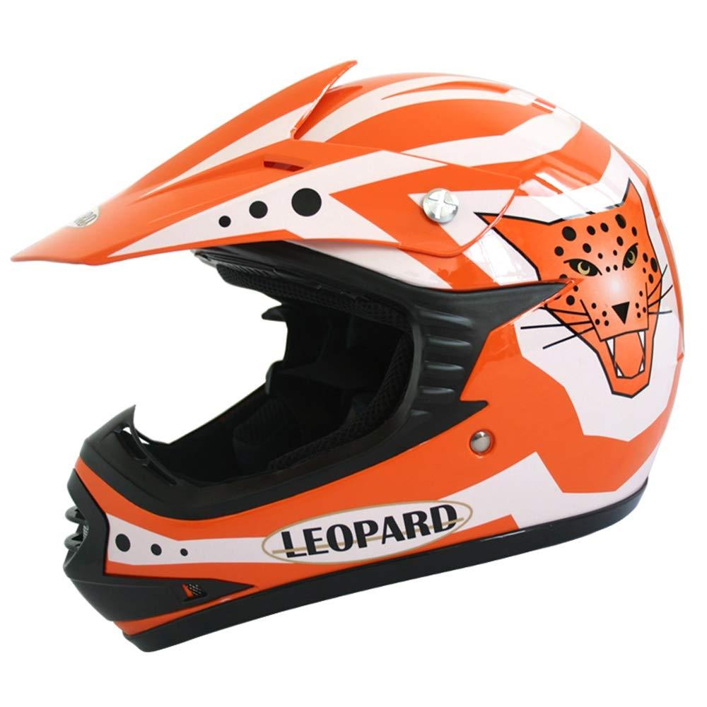 Leopard LEO-X17 Casco da Motocross per Bambini off-Road ECE 22-05 Approvato Guanti Occhiali Tuta da Motocross per Bambini