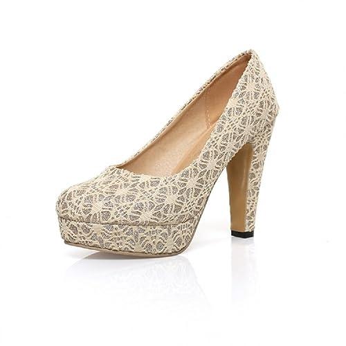 Amazon.com: Carol Zapatos Moda Mujer Plataforma Tacón Alto ...