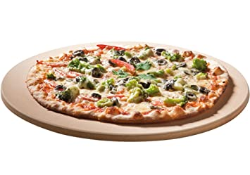 Piedra para pizza Santos Premium, redonda, de 26 cm de diámetro. Hasta 1.000