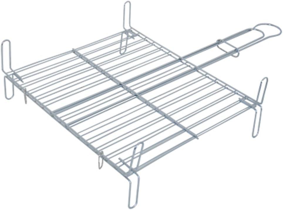 Parrilla con patas acero cromado, 45 x 50 x 0,1 cm MSV 110373
