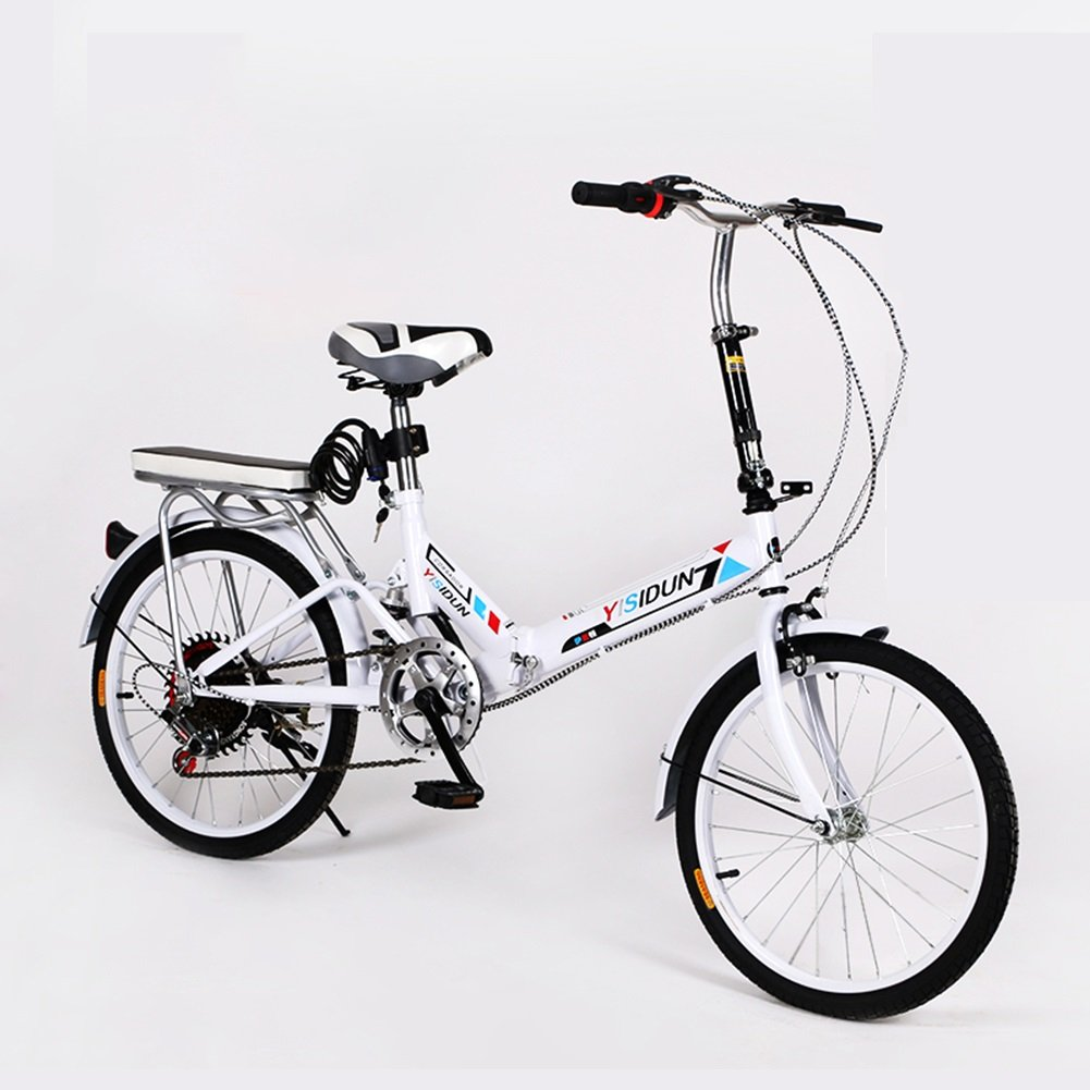 XQ XQ164URE 20 Pulgadas Bicicleta Plegable 6 Velocidad Bicicleta Hombres y Mujeres Bicicleta Bicicleta de los Niños Adultos (Color : Pink): Amazon.es: Hogar