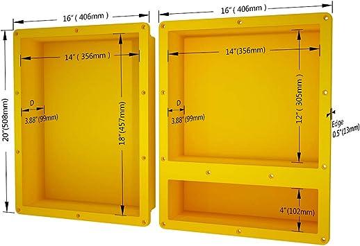 uni green shower niche 20x32 recessed