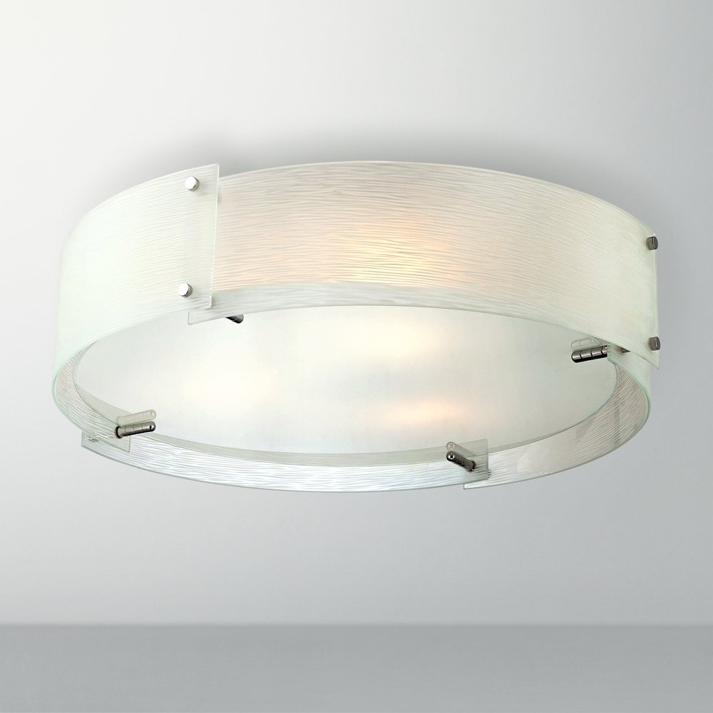 Lite Source LS5420CFRO Flush Mount with Frosted Glass Shades