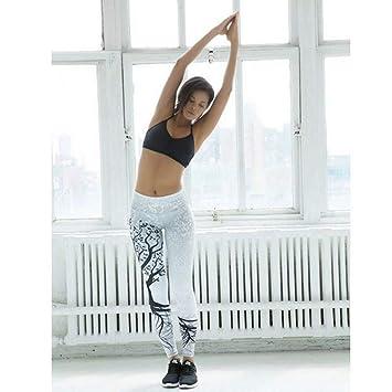 WYLYJTZ Pantalones De Yoga Árbol Silueta Yoga Pantalón ...