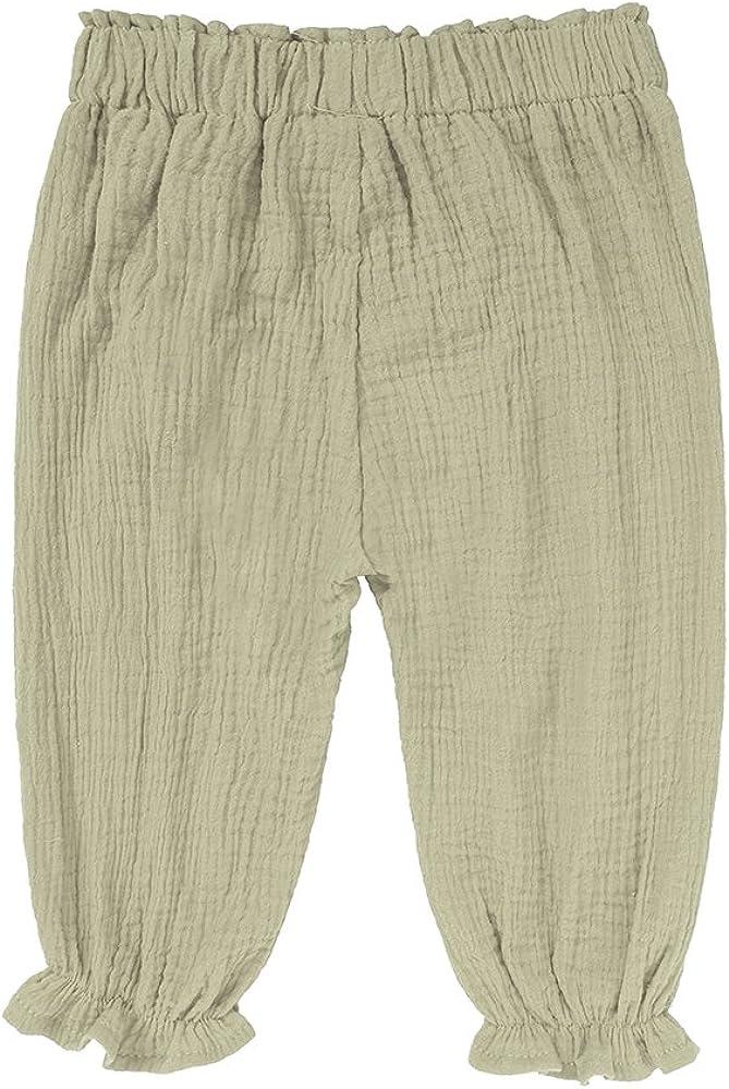 Kids Tales Unisex Baby Girls Boys Cotton Linen Blend Ruffle Bloomer Pants