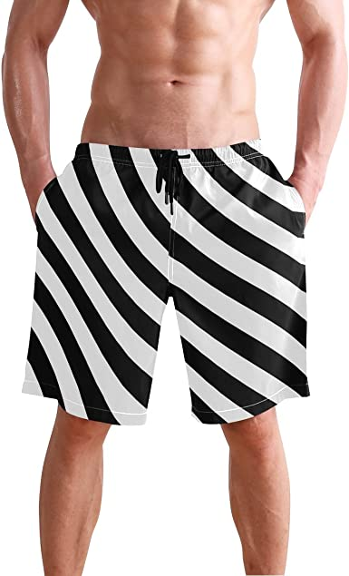 JECERY Mens Swim Trunks Unicorn Stars Quick Dry Board Shorts with Drawstring and Pockets
