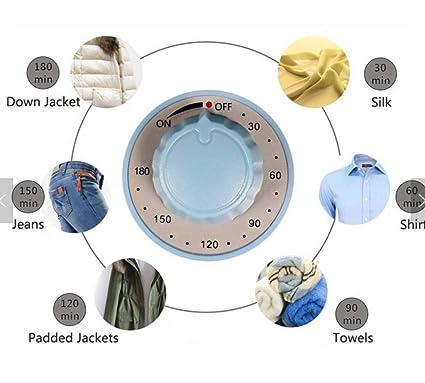 Secador de ropa eléctrico portátil tendedero de pared 22 Lb Capacidad Forma Redonda mejor ahorro de energía portátil ventless paños secador plegable secado ...