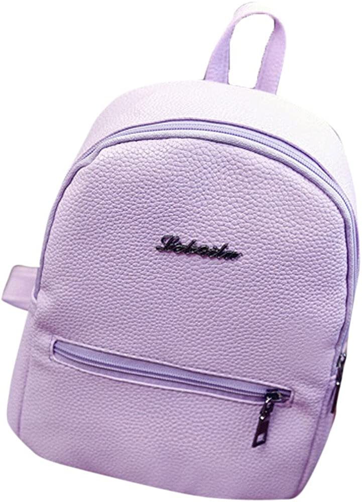 Lurryly Backpack Women Girls Boys Travel Bags Child Bookbag Leather Primary Schoolbag