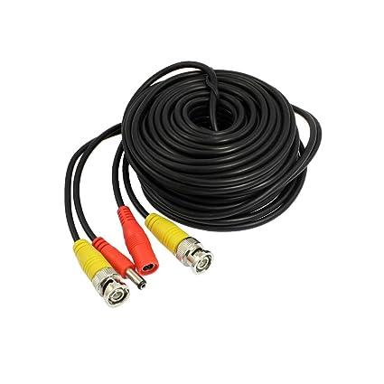 Cable de Alimentación de Cámara de Seguridad CCTV de 15 Metro BNC a Conector DC