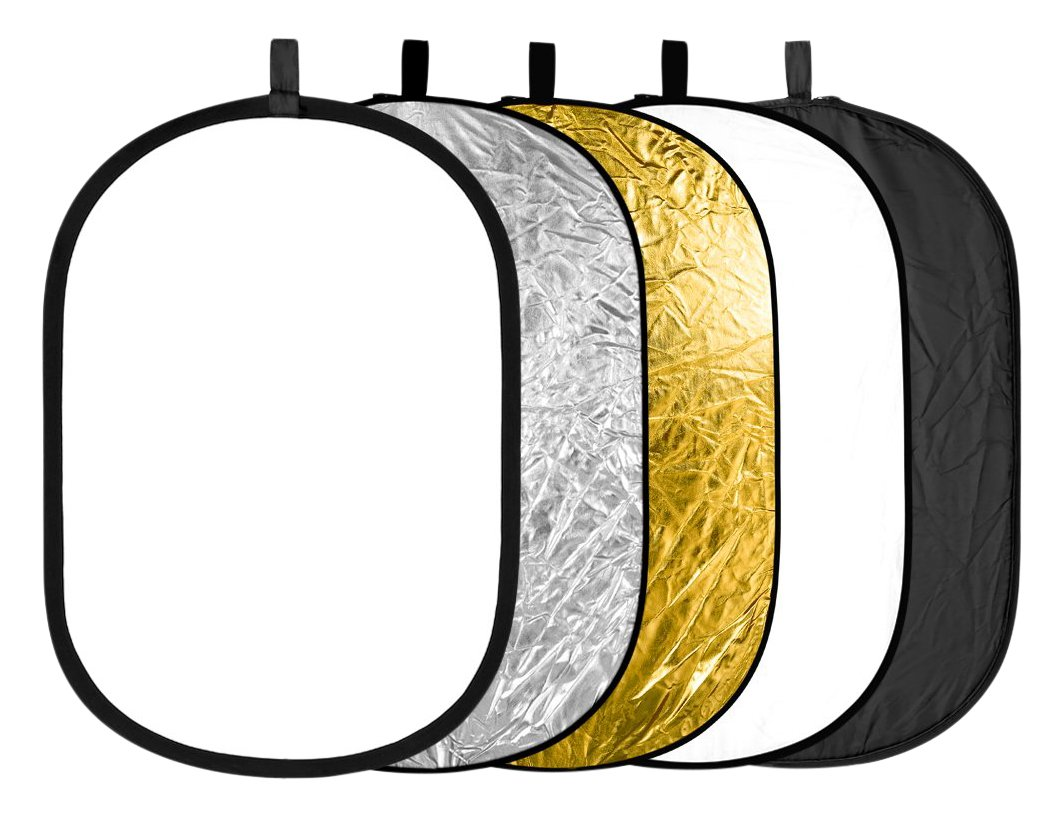 Neewer 5 in 1 Portable Round Collapsible Multi Disc Photography Lighting Reflector 24x36 inches/60x90centimeters with Carrying Case for Photo Studio Shooting by Neewer