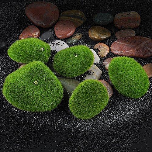 Daytingday Stone Moss Miniature Dollhouse Garden Craft Fairy Bonsai Plant Decor (12 Pack)