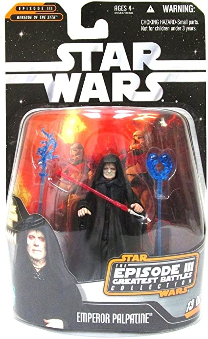 Amazon Com Hasbro Star Wars Greatest Hits Basic Figure Episode 3 Emperor Palpatine Toys Games