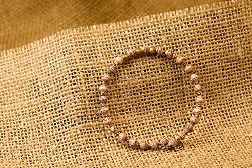 Paper Bead East African Bangle – Light Earthtone – Fair Trade BeadforLife Jewelry
