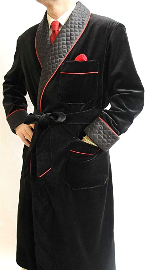 Mens Quilted Jackets Luxury Velvet Robes Men Smoking Jackets Hosting Dinner Party Wear Coats Burgundy BlackPurpleGreenBlue Jacket