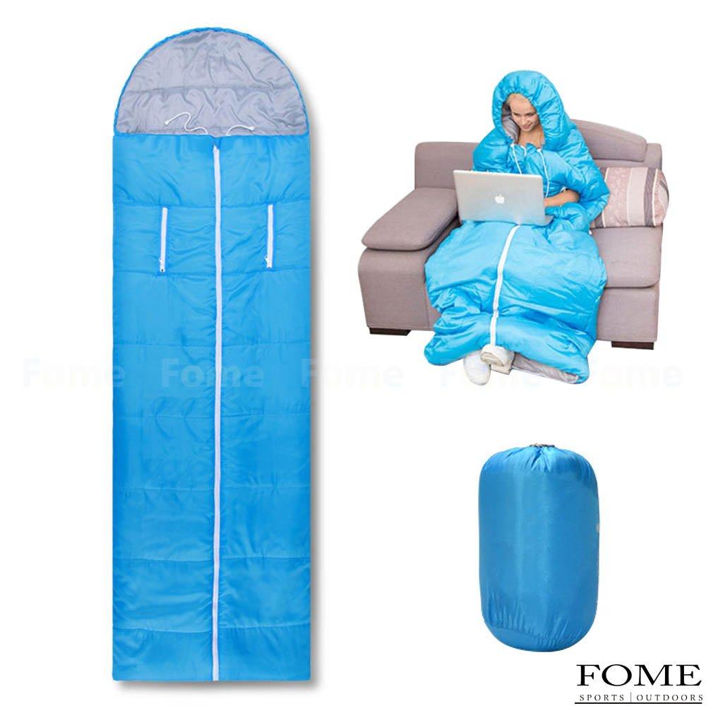 Saco de dormir, FOME diseño único ultraligero portátil resistente al agua comodidad único bolsa de dormir con bolsa de compresión para adultos 4 temporada ...