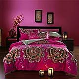 Newrara Bohemian Bedding Boho Comforter Set Queen Size 5pieces (1)
